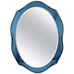 Blue Beveled Mirror by Cristal Art