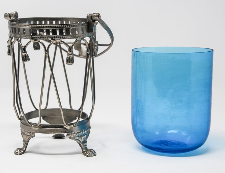Blue Boho Glass Votive Candleholder For Sale At 1stdibs