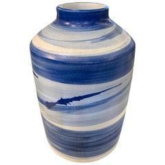 Blue Brush Stroke Vase, China, Contemporary