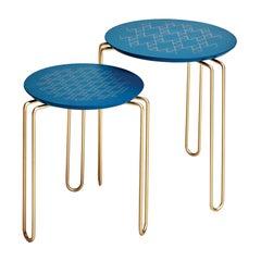 Blue Caleido Nesting Table