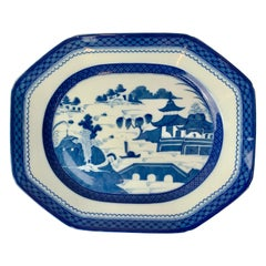 Blue Canton Platter by Vista Alegre for Mottahedeh