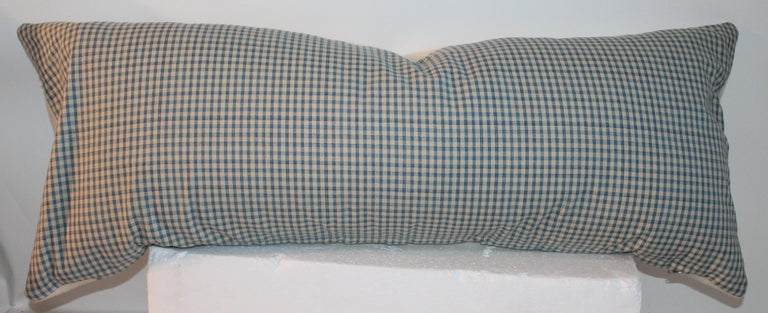 Blue Center Stripe Lambs Wool Pillows, Three For Sale 1