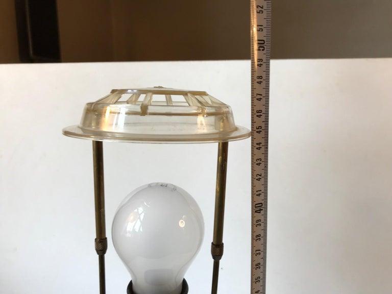 Blue Ceramic Art Deco Table Lamp by Søholm, Denmark, circa 1940 For Sale 1