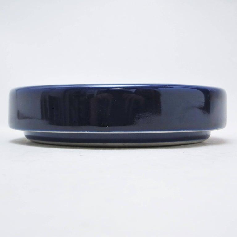 Blue Ceramic Ashtray Brambilla by Angelo Mangiarotti circa 1967 In Excellent Condition For Sale In Paris, FR