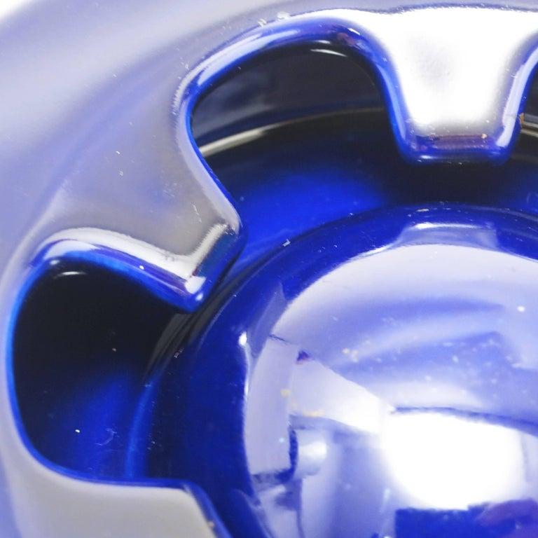 Blue Ceramic Ashtray Brambilla by Angelo Mangiarotti circa 1967 For Sale 1