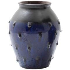 Blue Ceramic Vase, 1950s