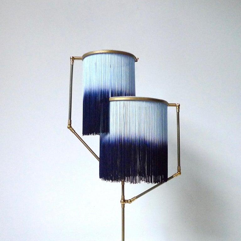 Brass Blue Charme Floor Lamp, Sander Bottinga For Sale