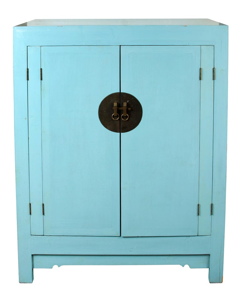 Blue Chinese Style Cabinet At 1stdibs