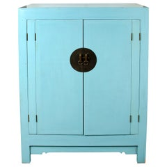 Blue Chinese Style Cabinet