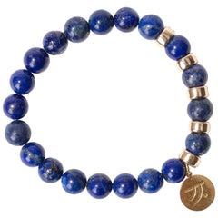 Blue City Lapis 14K Gold Bracelet