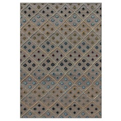 Blue Cloudcroft Neutral/Blue/Multi Tufted Hand-Knotted Wool Rug