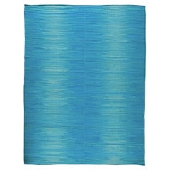 Blue Contemporary Kilim Rug