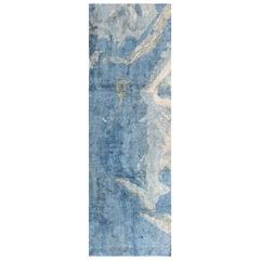 Blue Contemporary Silk Runner