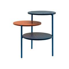 Blue & Coral Triplo Table by Martina Bartoli