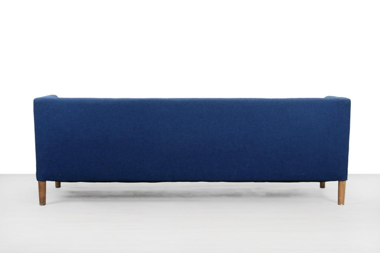 Blue Danish Design Sofa by Hans J. Wegner for Johannes Hansen, 1960s, Denmark In Good Condition For Sale In Amsterdam, Noord Holland