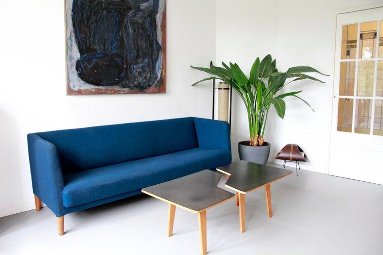Blue Danish Design Sofa by Hans J. Wegner for Johannes Hansen, 1960s, Denmark For Sale 1