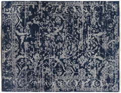 Blue Deconstructed Design Rug