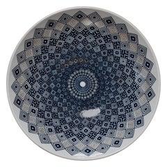 Blue Decorative Porcelain Charger by Japanese Master Porcelain Artist