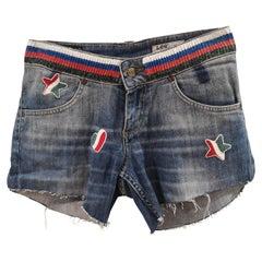 Blue denim SOAB shorts