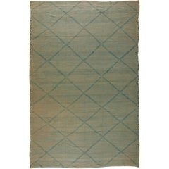 Blue Deux Diamond Rug II