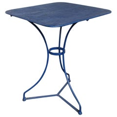Blue Distressed French Bistro Garden Table