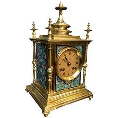 19th Century Blue Enamel French Ormolu Clock