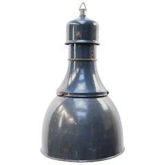 Blue Enamel Vintage Industrial Factory Pendant Lights