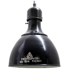 Blue Enamel Vintage Industrial Industrial Factory Pendant Lights