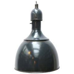 Blue Enamel Vintage Industrial Pendant Hanging Lamp