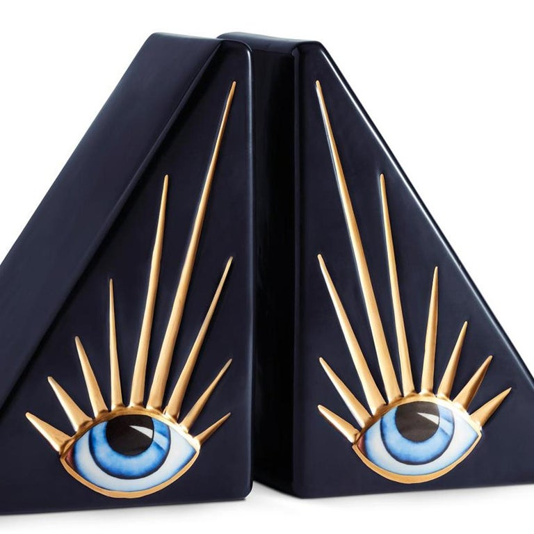 Portuguese Blue Eyes Set of 2 Bookends For Sale