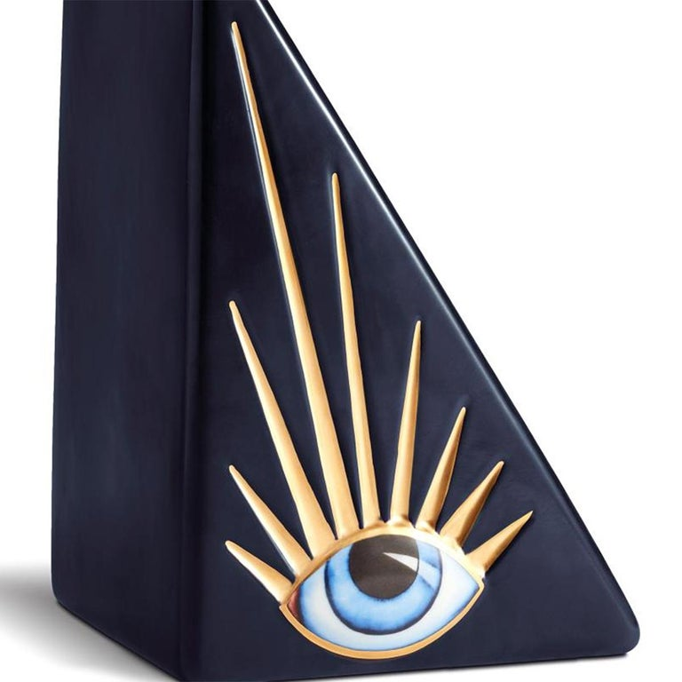 Blue Eyes Set of 2 Bookends In New Condition For Sale In Paris, FR