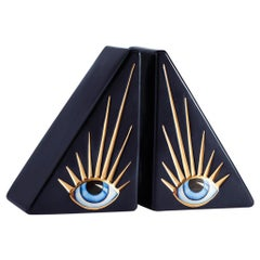 Blue Eyes Set of 2 Bookends