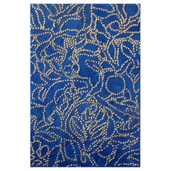 Blue Floral Deco-CK2 Wood Panel