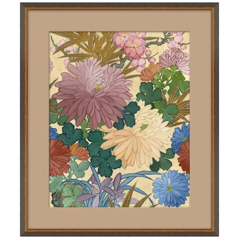 Blue Floral I Japanese Print by CuratedKravet For Sale