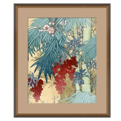 Blue Floral II Japanese Print by CuratedKravet