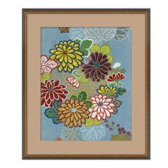 Blue Floral III Japanese Print by CuratedKravet