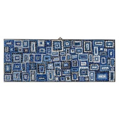 Blue Frame Decorative Panel by Mosaici Ursula Corsi