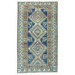Blue Geometric Kazak Rug