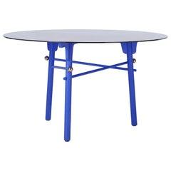 Blue Glass Table by Thomas Dariel