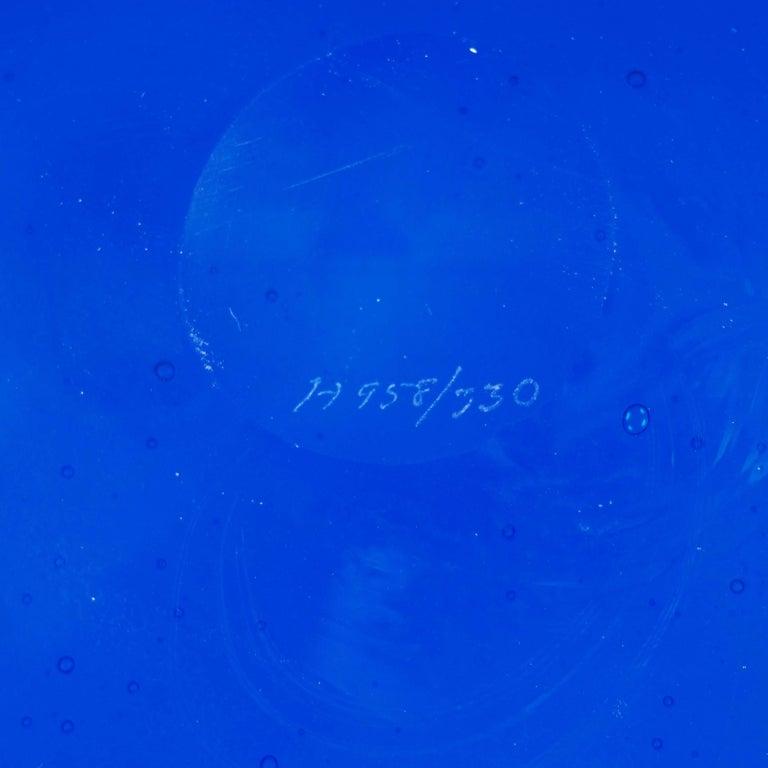 Blue Glass Tray by Erik Höglund, Boda, Sweden For Sale 4