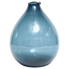Blue Glass Vase by Timo Sarpaneva, Finland, circa 1960