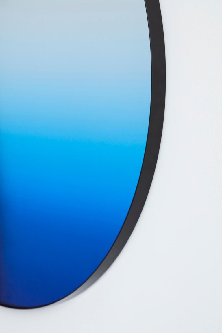 American Circular Blue Gradient Mirror by Phillip Jividen For Sale