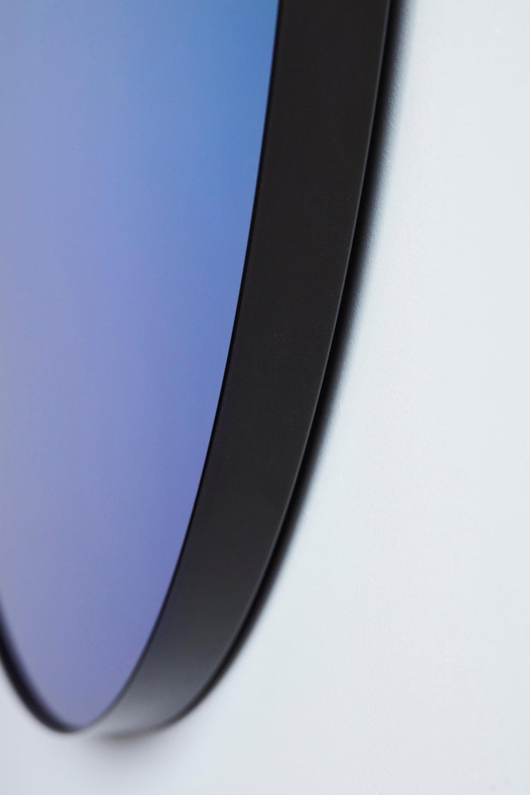 Circular Blue Gradient Mirror by Phillip Jividen In New Condition For Sale In New York, NY
