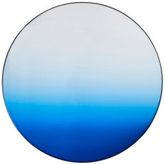 Circular Blue Gradient Mirror by Phillip Jividen