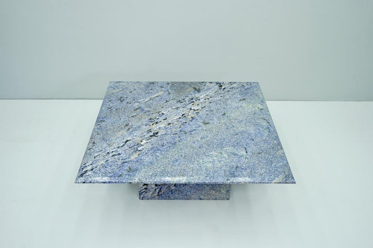 Blue Granite Coffee Table, 1970s Stone, Marble For Sale 1