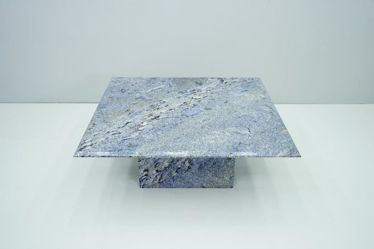 Blue Granite Coffee Table, 1970s Stone, Marble For Sale 2