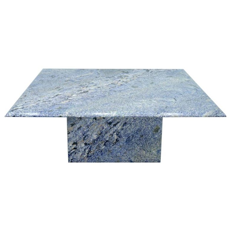 Blue Granite Coffee Table, 1970s Stone, Marble For Sale