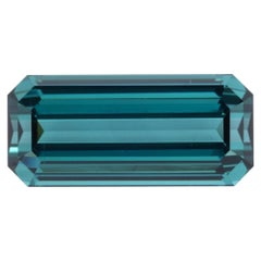 Blue Green Tourmaline 9.64 Carat Emerald Cut Gem