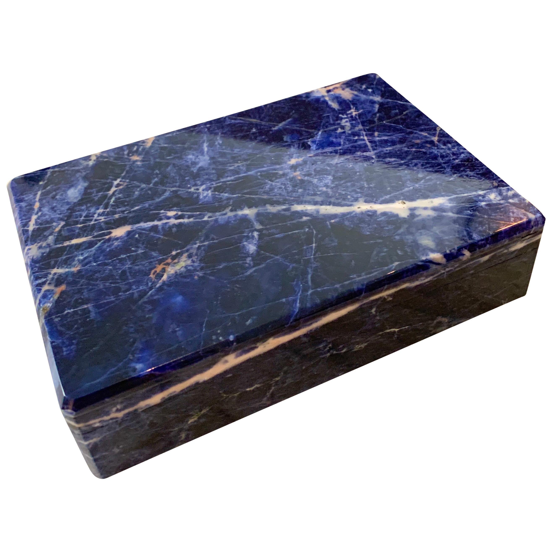Blue Indian Lapis Lazuli Lidded Box