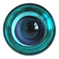Blue Italian Murano 'Geode' Art Glass Bowl